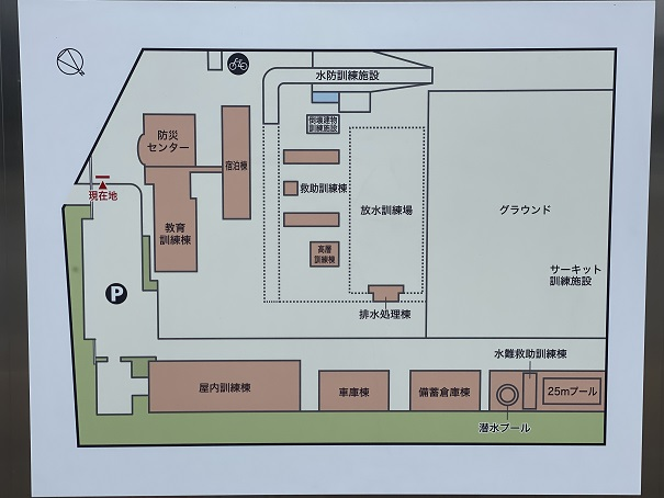 香川県防災センター敷地内全体案内図