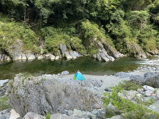 祖谷川テント
