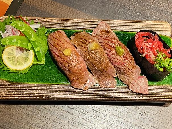 炙り肉寿司 お寿司盛合せ4種