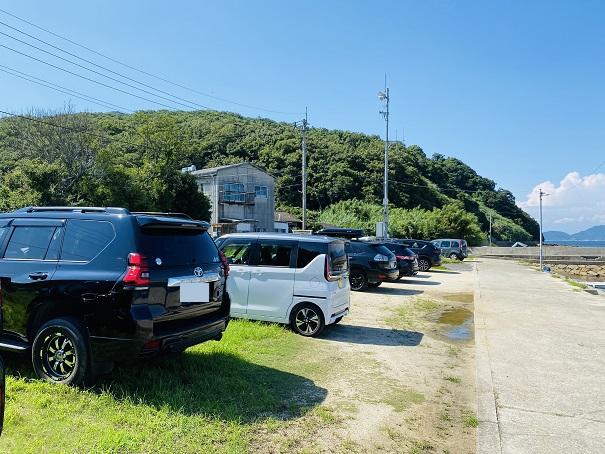 篠尾海水浴場駐車場