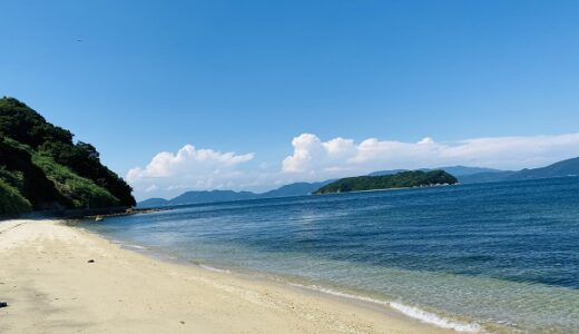 篠尾海水浴場 穴場の漁港の横にあるキレイなビーチ 高松市