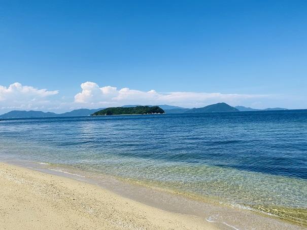 篠尾海水浴場透明度が高い