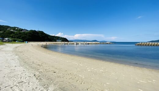 高尻海水浴場は白い砂浜と青い海がきれい 高松市庵治町