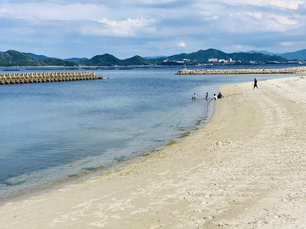 高尻海水浴場風景