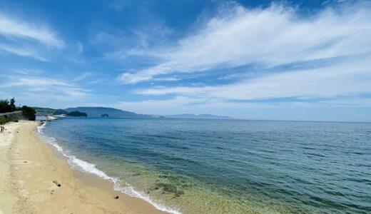 青木海水浴場と中谷海岸で海遊び 流木が沢山ある さぬき市