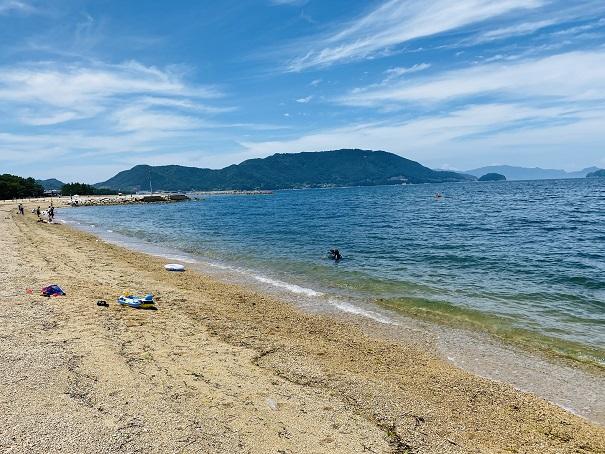 津田の松原海水浴場景色