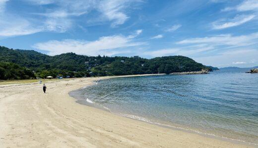 興津海水浴場 砂浜がキレイで飛び込み台で遊べる さぬき市