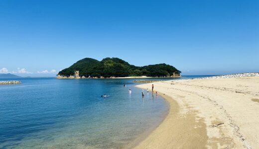 山田海岸は女島に冒険に行けちゃう海水浴場 東かがわ市