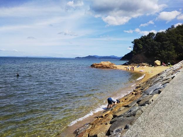 山田海岸東側のビーチ