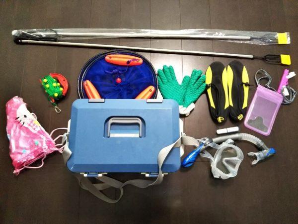 香川県の海で魚を突くための道具