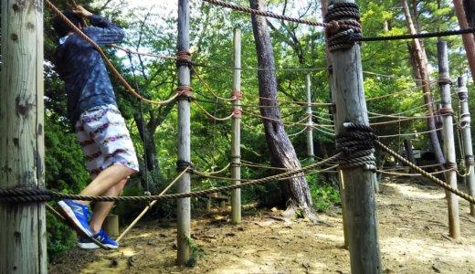 徳島県立神山森林公園のアスレチック  ターザンの森 「仁王とがまん」
