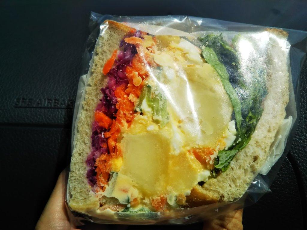 ジャガイモのサンドイッチ