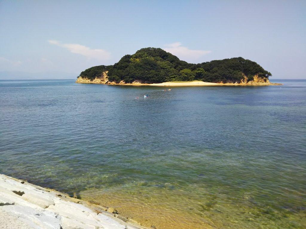 山田海岸 島へ
