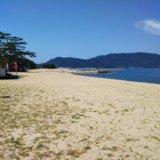 津田の松原海水浴場ビーチ