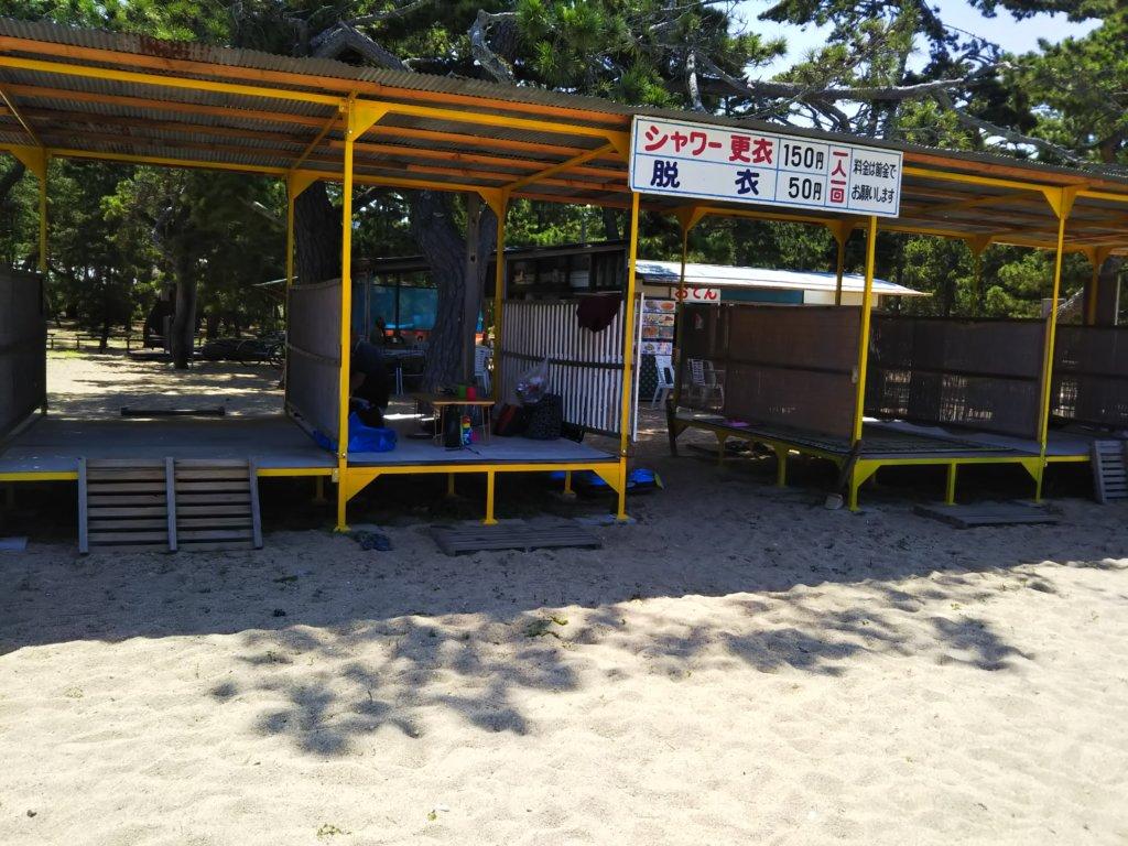津田の松原海水浴場桟敷