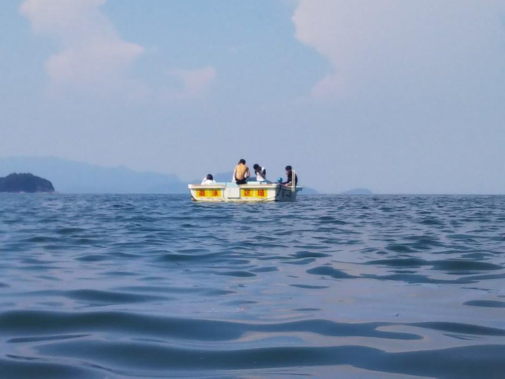 津田の松原海水浴場飛び込み台1
