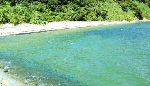 篠尾海水浴場は穴場のきれいな海 高松市庵治町