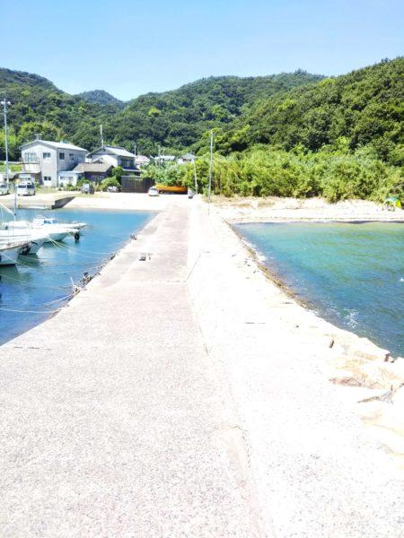篠尾海水浴場防波堤