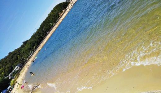 江の浜海水浴場はすぐに泳げる 高松市庵治町