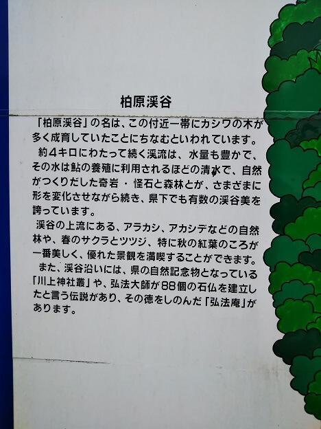 柏原渓谷の説明