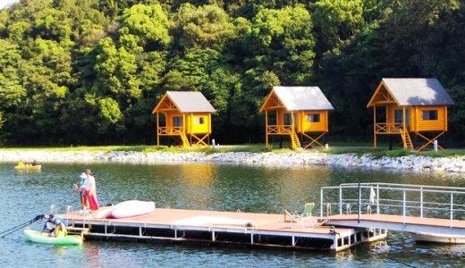香川県東かがわ市大池オートキャンプ場でボートやカヌー