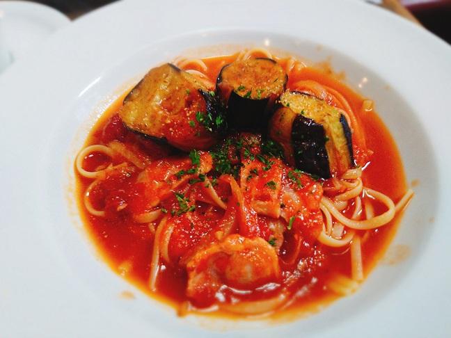 キャラメルママ ナスとトマトのスパゲッティ