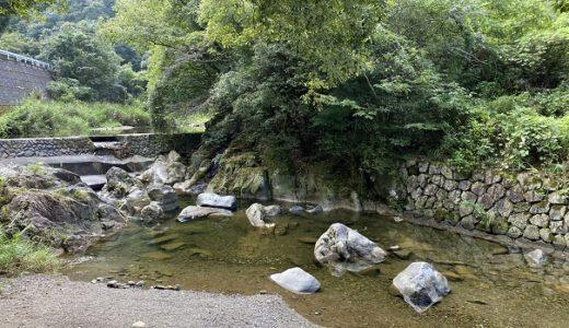 柏原渓谷(綾川上流)で川遊び キャンプ村Tatutaの森 綾川町