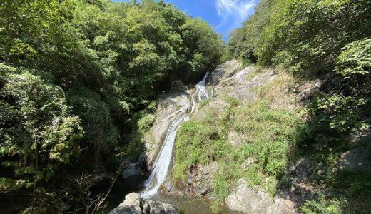 雄大な不動の滝の北井谷川で水遊び 高松市塩江町
