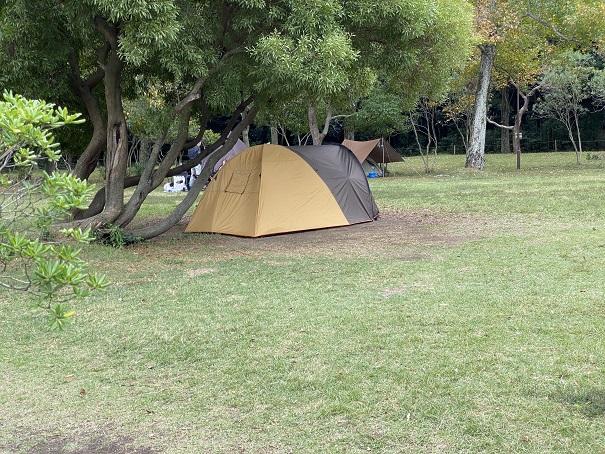 田の浦野営場芝生広場