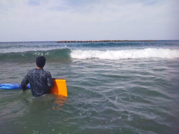 羽合海水浴場 波