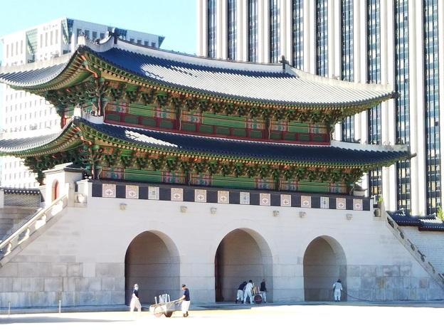 韓国ソウルの景福宮光化門