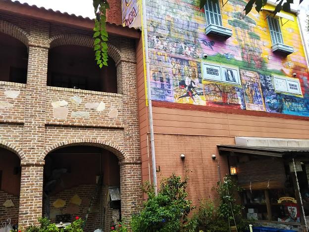 西内花月堂 壁画