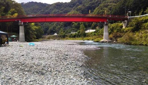 天神の瀬 清流穴吹川で川遊び