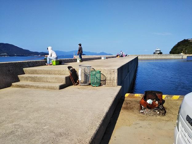 鶴羽漁港で釣り