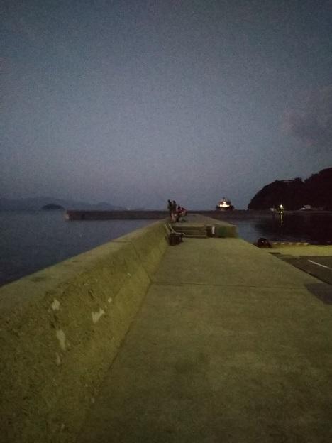 鶴羽漁港で太刀魚釣り