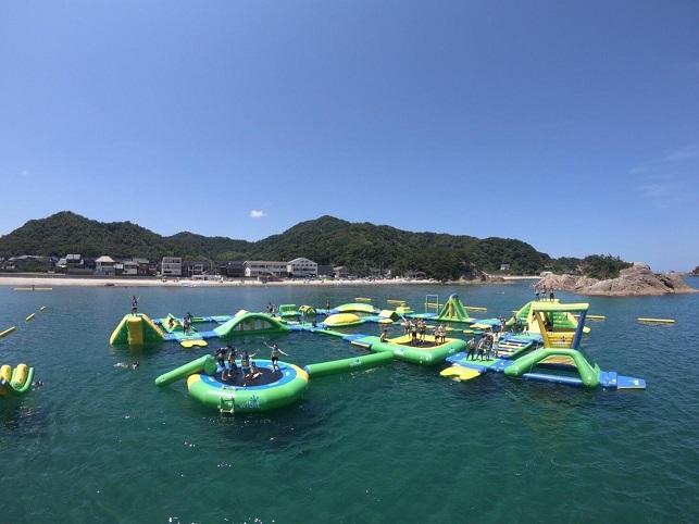 鳥取県の海上アスレチック