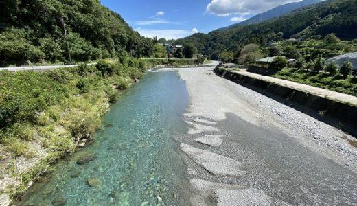 穴吹川 川遊び遊泳スポット 日本一美しい清流  徳島県美馬市