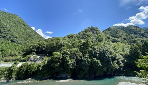白人の瀬 穴吹川 エメラルドグリーンの清流 徳島県美馬市