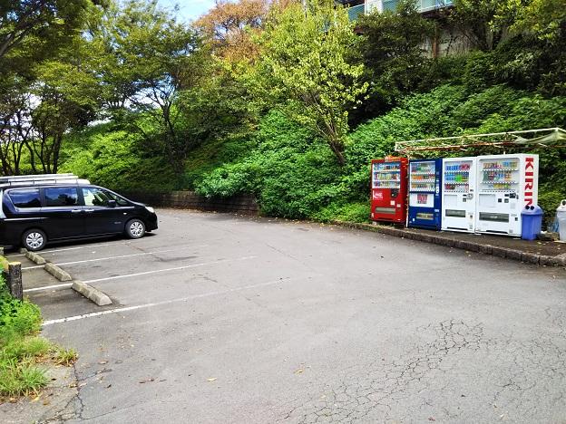 ふれあい広場の駐車場