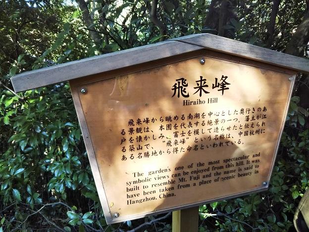 栗林公園 飛来峰