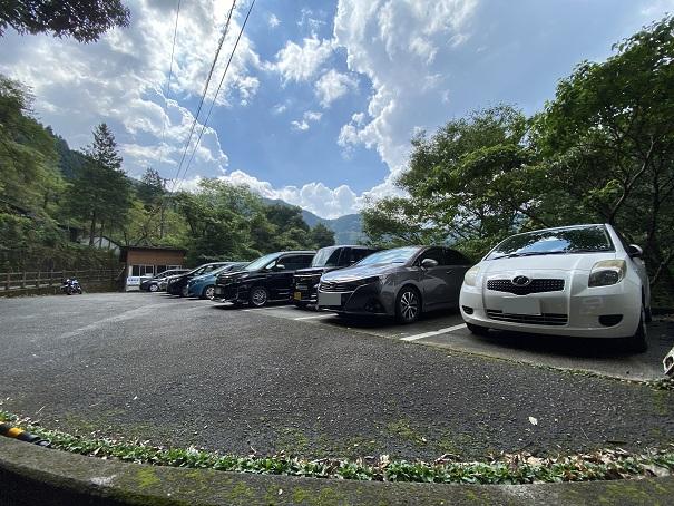 祖谷のかずら橋に近い駐車場