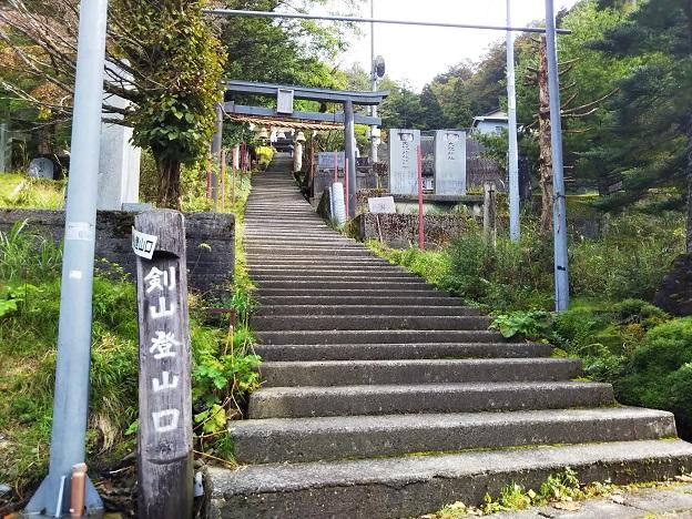 剣山の登山道大剣道コースの登山口