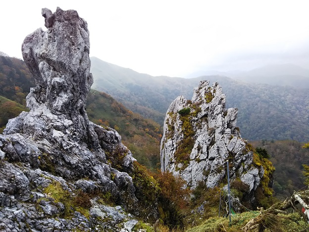 むき出しの岩