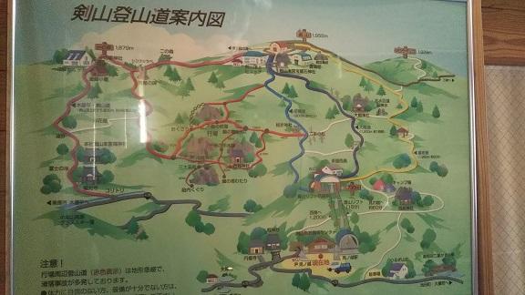 剣山登山道案内図1