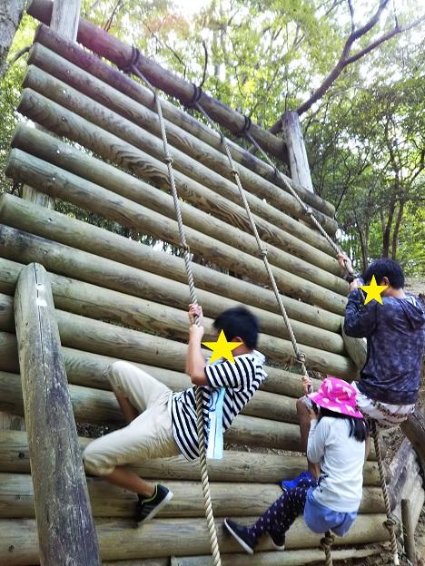 徳島県立神山森林公園イルローザの森のアスレチック