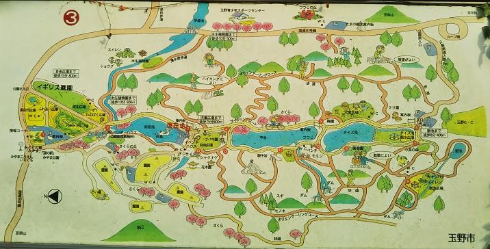 みやま公園 案内図