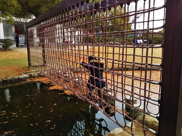 倉敷スポーツ公園 わんぱく広場 ロープの壁2