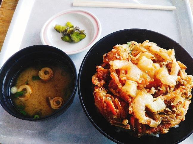 井川スキー場腕山 レストラン かき揚げ丼