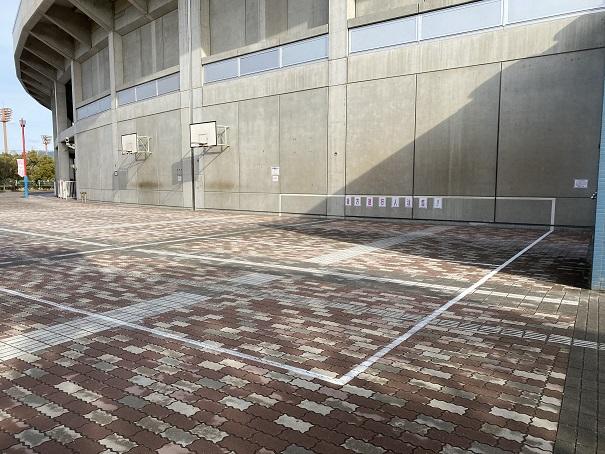 倉敷スポーツ公園壁打ちテニス