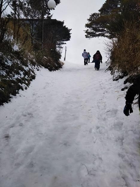 石鎚ロープウェイ山頂成就駅からの道2